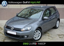 Volkswagen Golf VI DSG Highline, hatchback, 2.0 TDI, 2010, 140 cp, euro 5 leasing auto second hand